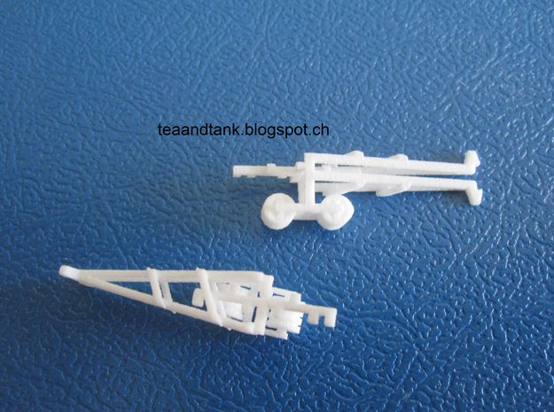 1/144 mine roller set for German Panzer II in White Strong & Flexible