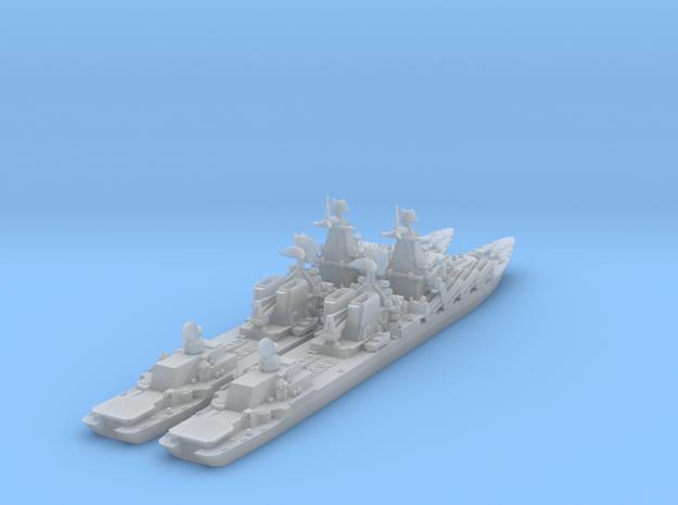 1/1250 Slava Soviet Missile Cruiser x 2