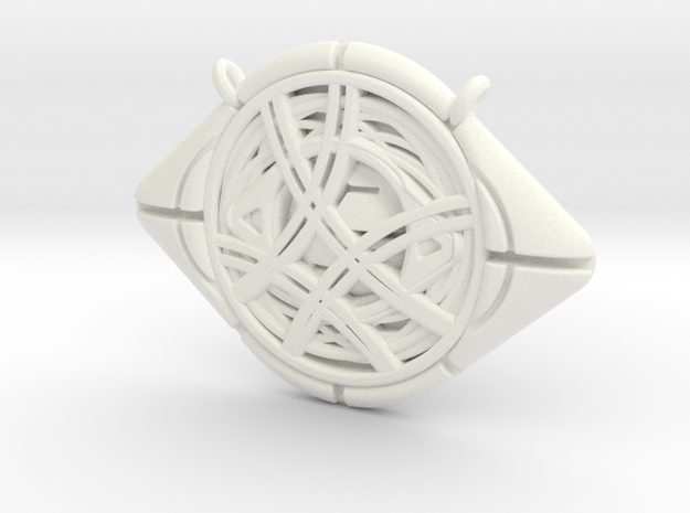 Eye Of Agamotto Pendant in White Processed Versatile Plastic