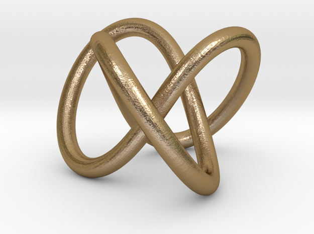 Torus Knot Pendant in Polished Gold Steel