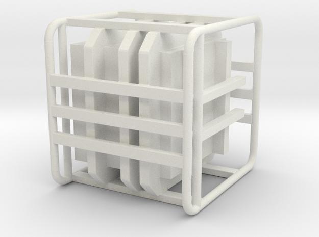 Sulaco Box with Rail 1:10 in White Natural Versatile Plastic