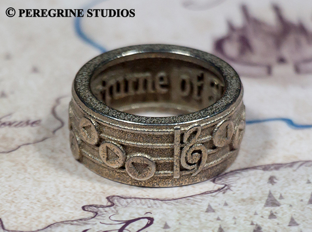 Ring - Nocturne of Shadow in Polished Bronzed Silver Steel: 13 / 69