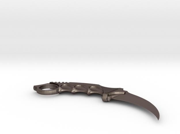 Karambit in Polished Bronzed Silver Steel