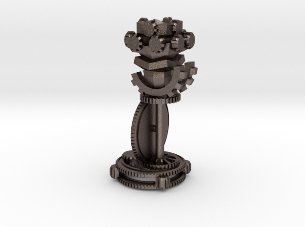 ChessSetGen2Rook in Polished Bronzed Silver Steel