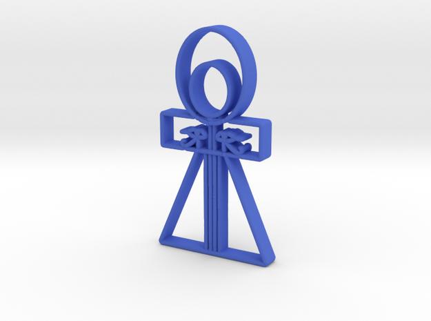 BleeAnkh2 in Blue Processed Versatile Plastic