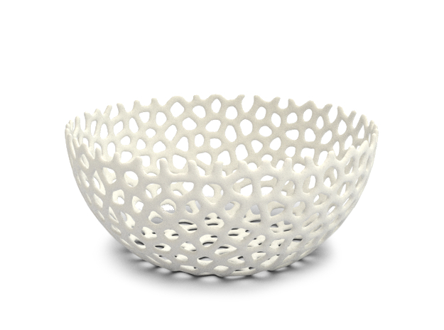 Fruit Bowl cm 20 in White Strong & Flexible