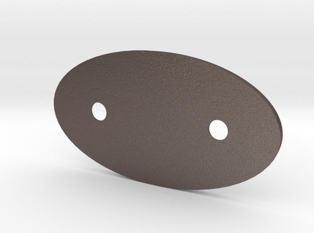 Minimalist Sun Visor Mount Cover for NA Mazda Miat in Polished Bronzed Silver Steel