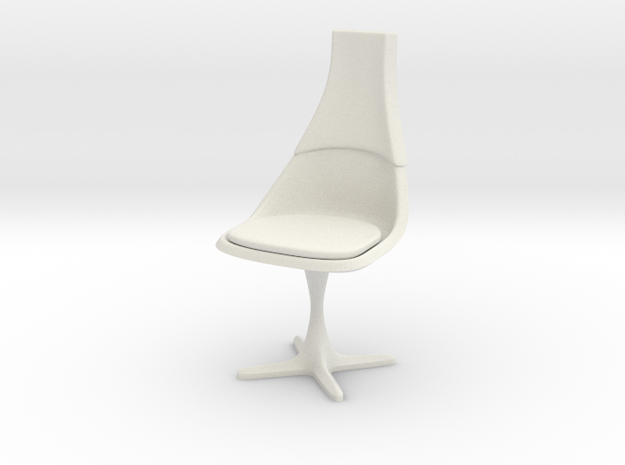 """TOS Chair 115 1:18 Scale 4"""" in White Natural Versatile Plastic"""