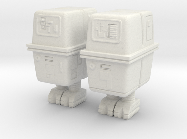 Gonk droids 1:32 scale in White Strong & Flexible