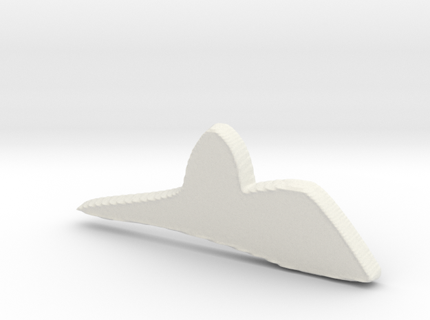 Sugar loaf in White Natural Versatile Plastic