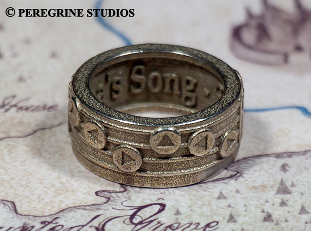 Ring - Epona's Song in Stainless Steel: 13 / 69