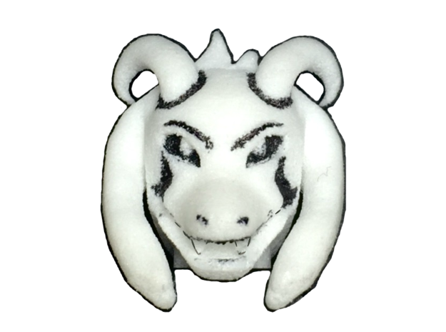 Custom Asriel Dreemur Inspired Head for Lego in White Processed Versatile Plastic