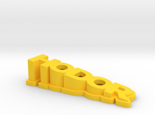 Big Hodor in Yellow Processed Versatile Plastic