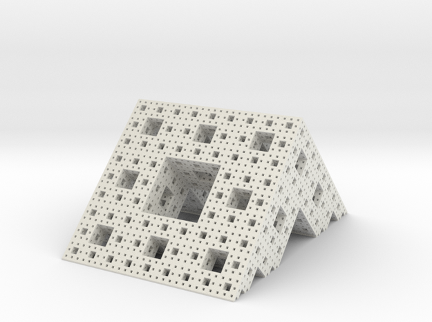 Menger roof (4 iterations) in White Strong & Flexible