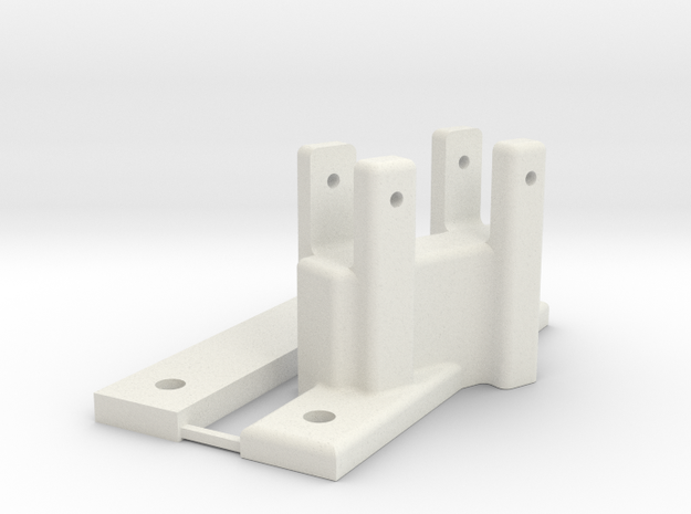 PULL-PAL MOUNT, W/BACKING PLATE in White Natural Versatile Plastic
