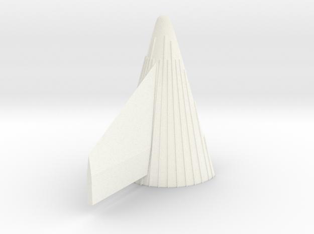 1/100 Sat V 1st Stage nozzle fairing-flight size in White Processed Versatile Plastic