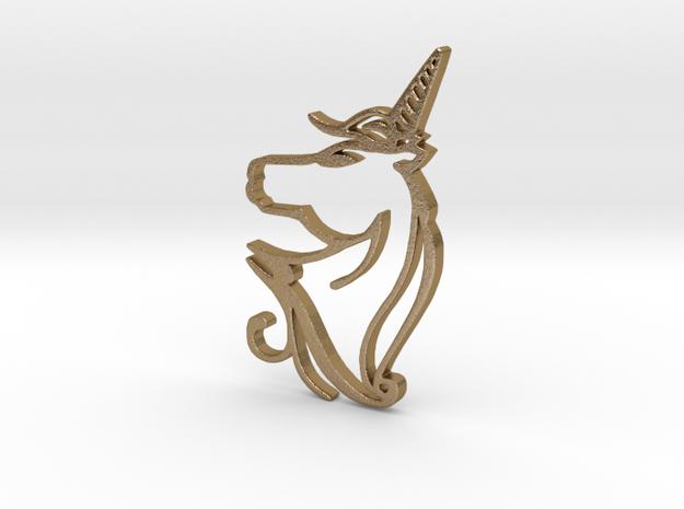 Unicorn in Polished Gold Steel