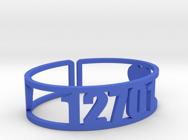 Kennybrook Zip Cuff in Blue Processed Versatile Plastic