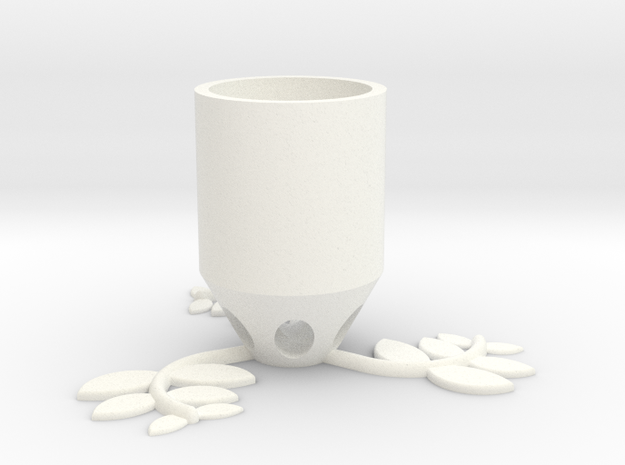 Small Plant Pot (long) in White Processed Versatile Plastic
