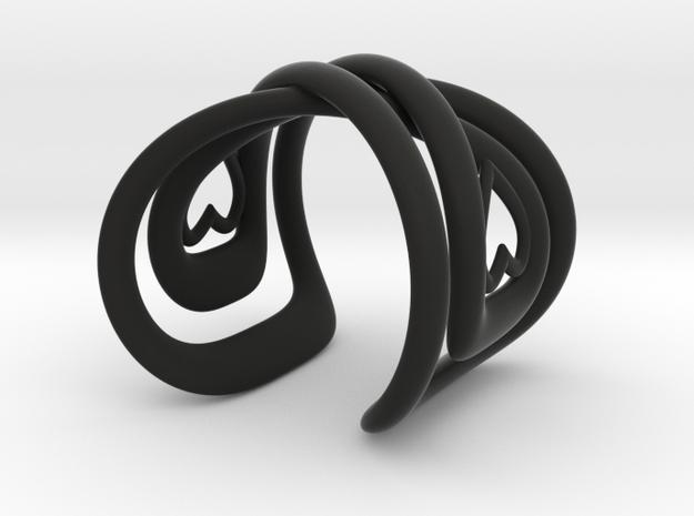 Infinite Love Bracelet in Black Natural Versatile Plastic