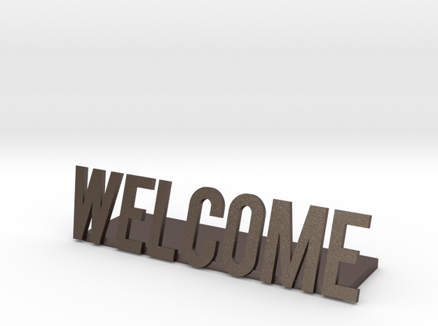 Welcome logo desk business
