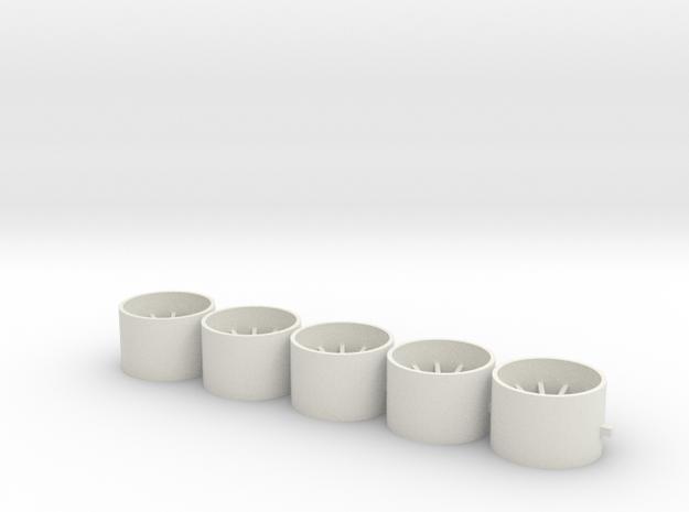 15x10x2.2 in White Natural Versatile Plastic