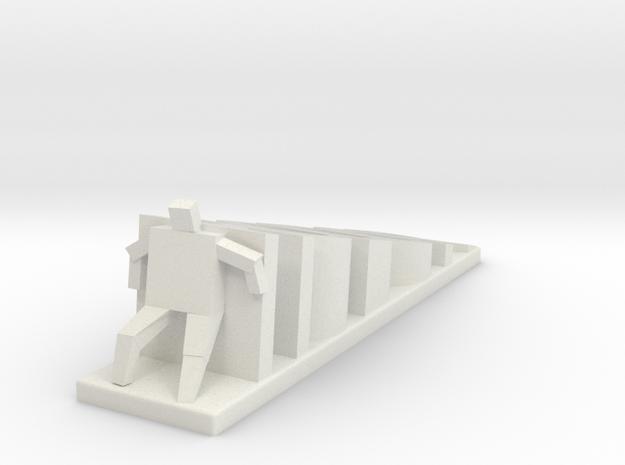 Hodor Doorstop in White Strong & Flexible
