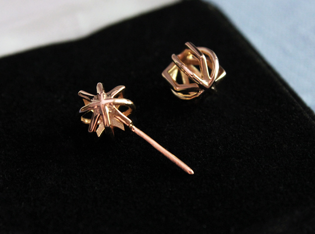 Jennie Studs in 14k Rose Gold Plated Brass