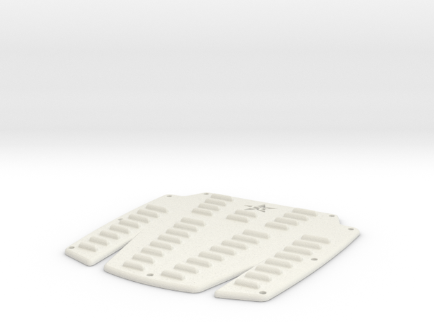 Crawler Concepts Scale Hood Louver in White Natural Versatile Plastic