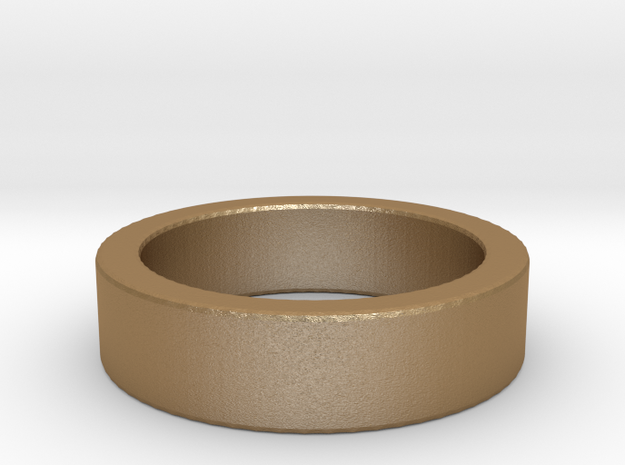 Basic Ring US5 in Matte Gold Steel