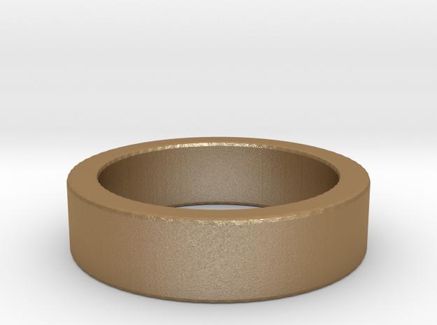 Basic Ring US5 in Matte Gold Steel