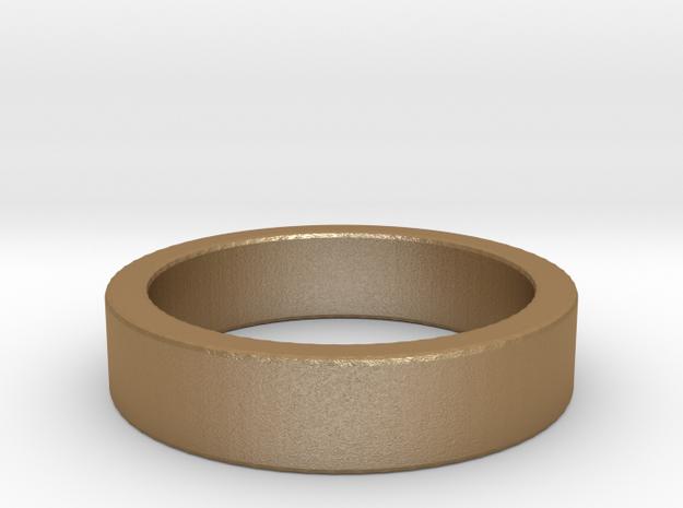 Basic Ring US8 in Matte Gold Steel