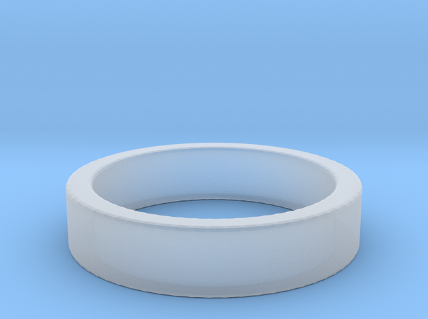 Basic Ring US9 in Smooth Fine Detail Plastic