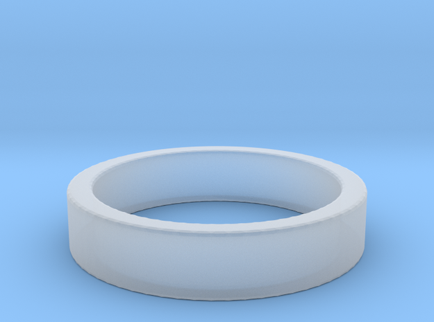 Basic Ring US10 in Smooth Fine Detail Plastic