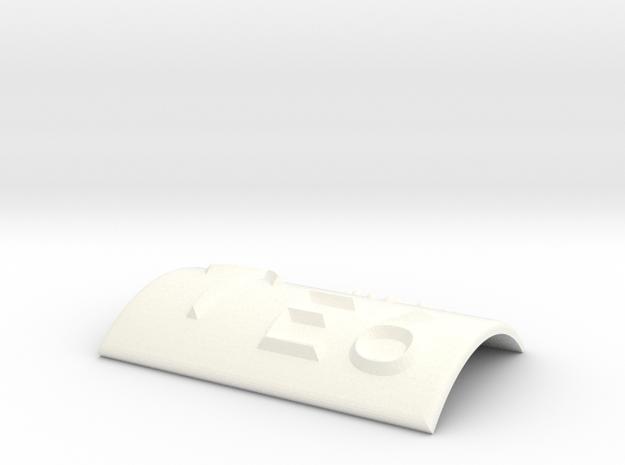E6 mit Pfeil nach oben in White Processed Versatile Plastic
