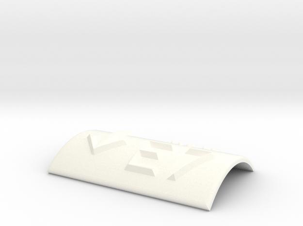 E7 mit Pfeil nach unten in White Processed Versatile Plastic