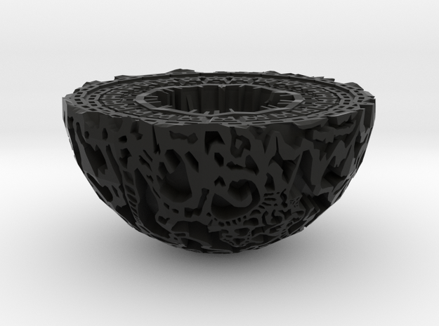Guardians of the Galaxy Light (tealight holder) in Black Natural Versatile Plastic