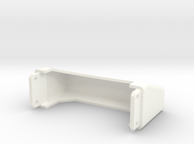Tamiya Semi Truck Tapered Frame End - Type C in White Strong & Flexible Polished