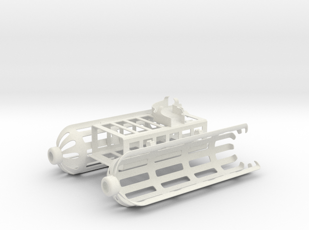 DJI Phantom 4 ocean rescue attachment in White Natural Versatile Plastic