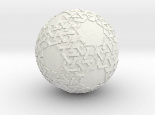 Islamic Art On A Ball in White Natural Versatile Plastic