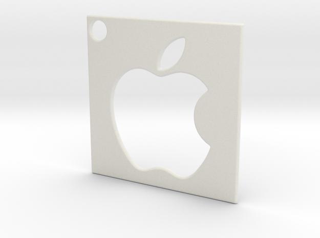 Apple - Logo Pendant in White Strong & Flexible