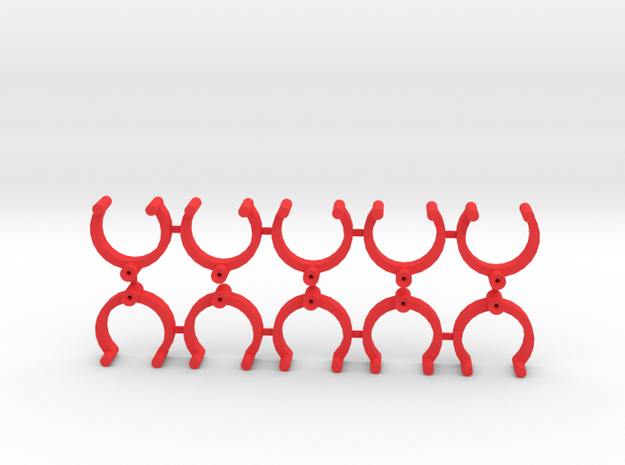 Collector Pins Magnet Adapters (10 pack) in Red Processed Versatile Plastic