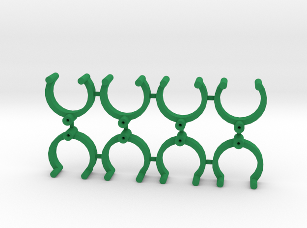 Collector Pins Magnet Adapters (8 pack) in Green Strong & Flexible Polished