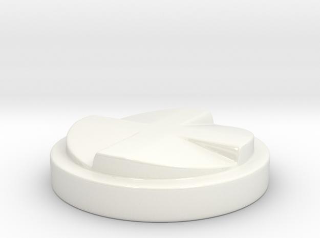 Coffee Distributor, 58mm v.2 in Gloss White Porcelain