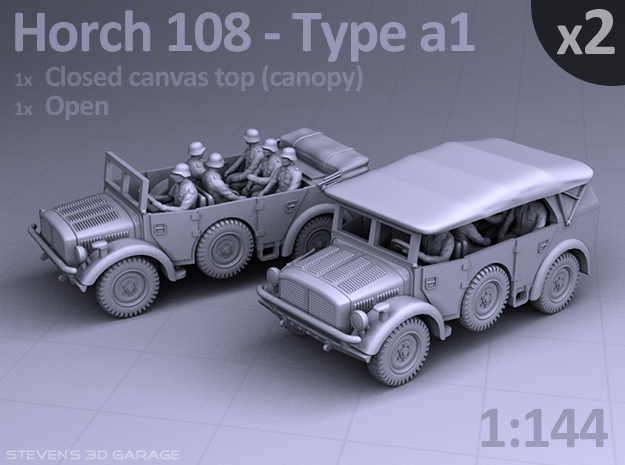 HORCH 108 a1 - (2 pack) in Smooth Fine Detail Plastic