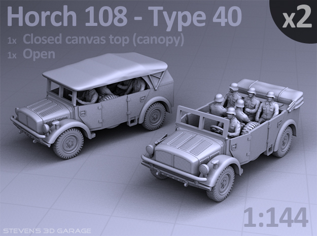 HORCH 108 40 - (2pack) in Smooth Fine Detail Plastic