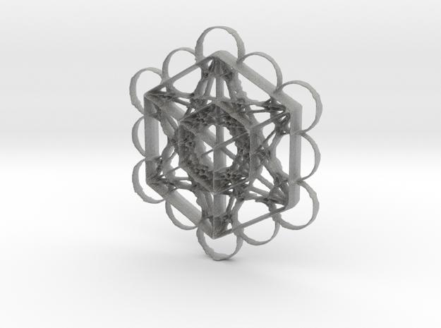 Meta Tron Cube in Metallic Plastic