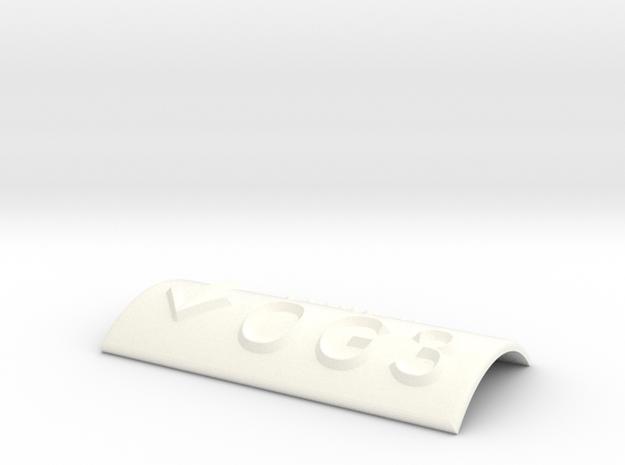 OG 3 mit Pfeil nach unten in White Processed Versatile Plastic