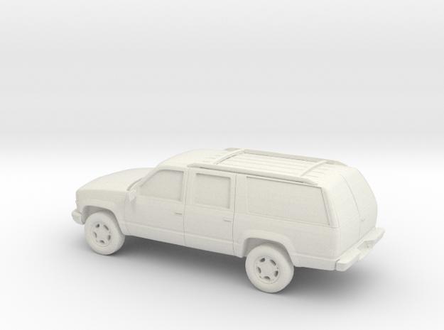 1/87 1999 Chevrolet Suburban in White Natural Versatile Plastic