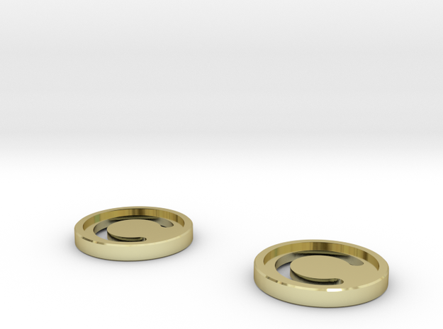 7mm Coins (Type1), x2 in 18k Gold Plated Brass